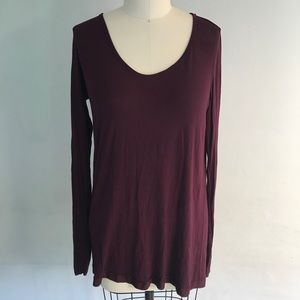 Bailey 44 Anthropologie Burgundy Knit Tunic